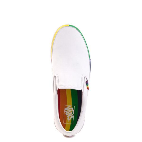 alternate image alternate view Vans Slip On Skate Shoe - White / RainbowALT2