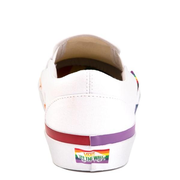 alternate image alternate view Vans Slip On Skate Shoe - White / RainbowALT2B