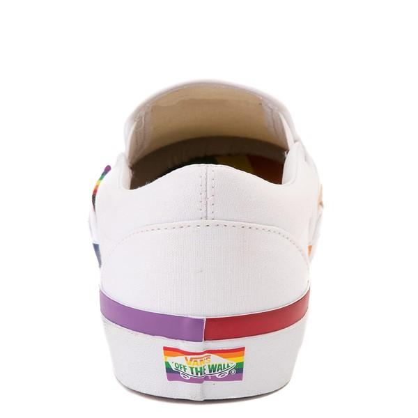alternate image alternate view Vans Slip On Skate Shoe - White / RainbowALT4