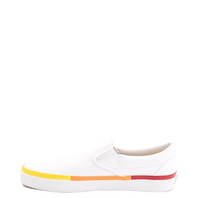 Alternate view of Vans Slip On Skate Shoe - White / Rainbow