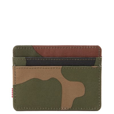 Alternate view of Herschel Supply Co. Charlie Wallet - Woodland Camo