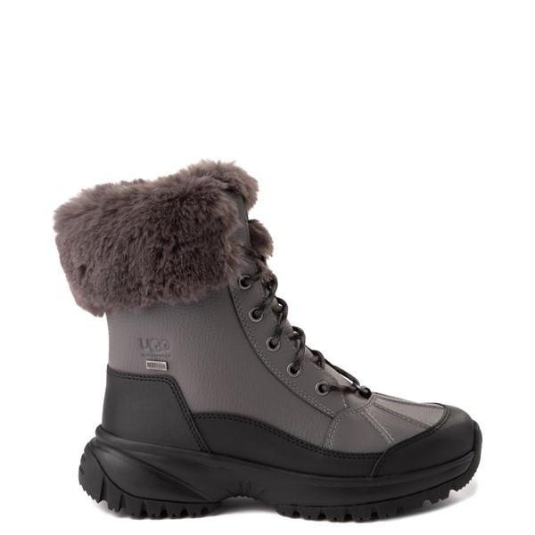 Main view of Womens UGG® Yose Fluff Boot - Dark Grey