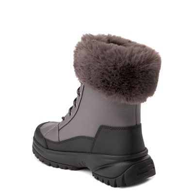 Alternate view of Womens UGG® Yose Fluff Boot - Dark Grey