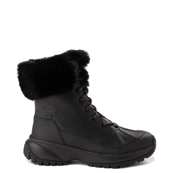 Main view of Womens UGG® Yose Fluff Boot - Black