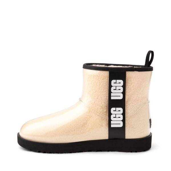alternate image alternate view Womens UGG® Classic Clear Mini II Boot - Natural / BlackALT1