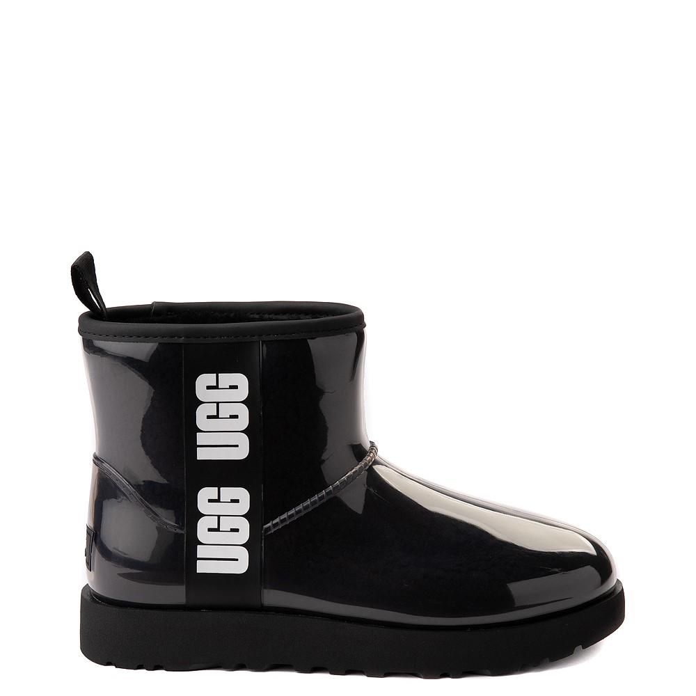 Womens UGG® Classic Clear Mini II Boot - Black