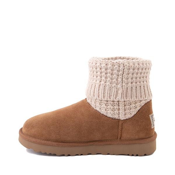 alternate image alternate view Womens UGG® Classic Solene Mini Boot - Chestnut / OatmealALT1