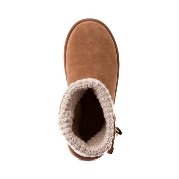 alternate image alternate view Womens UGG® Classic Solene Mini Boot - Chestnut / OatmealALT2