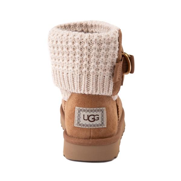 alternate image alternate view Womens UGG® Classic Solene Mini Boot - Chestnut / OatmealALT4