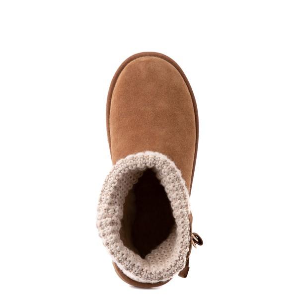 alternate image alternate view Womens UGG® Classic Solene Mini Boot - Chestnut / OatmealALT4B
