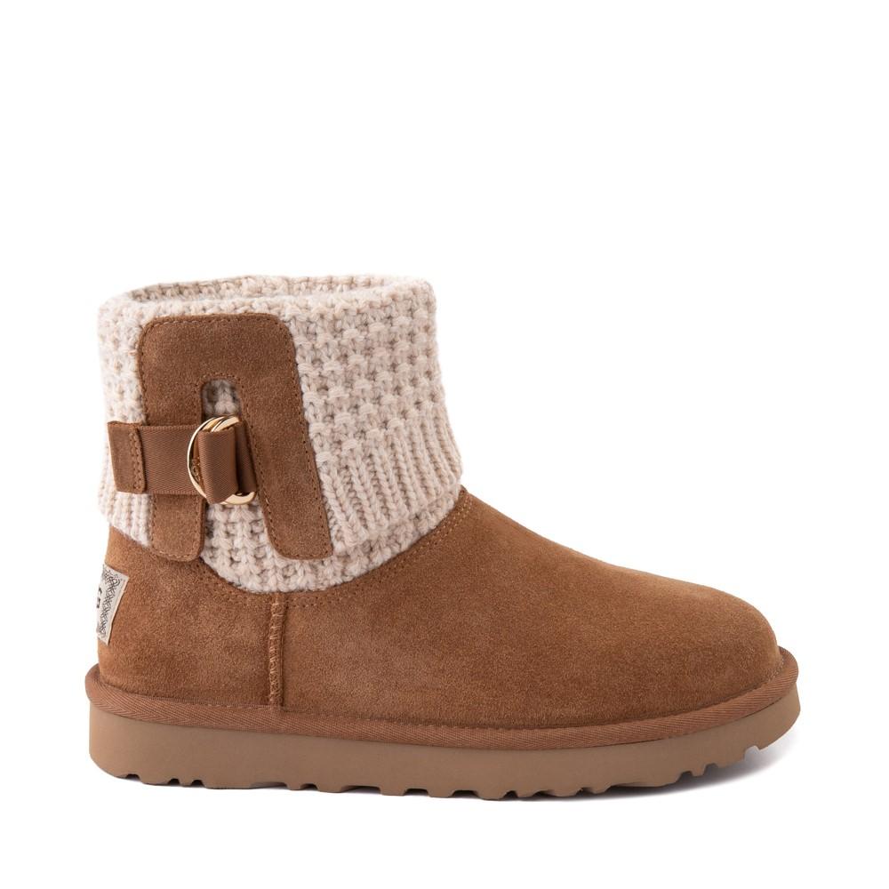 Womens UGG® Classic Solene Mini Boot - Chestnut / Oatmeal