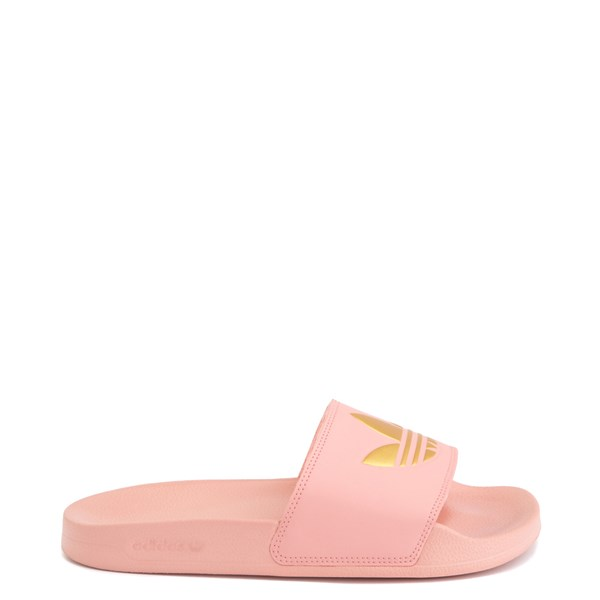 Main view of Womens adidas Adilette Lite Slide Sandal - Trace Pink / Gold