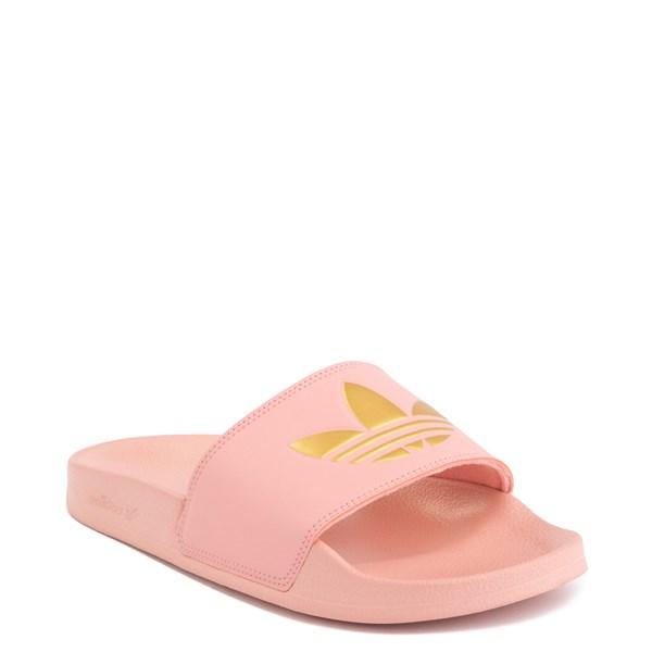 alternate image alternate view Womens adidas Adilette Lite Slide Sandal - Trace Pink / GoldALT1