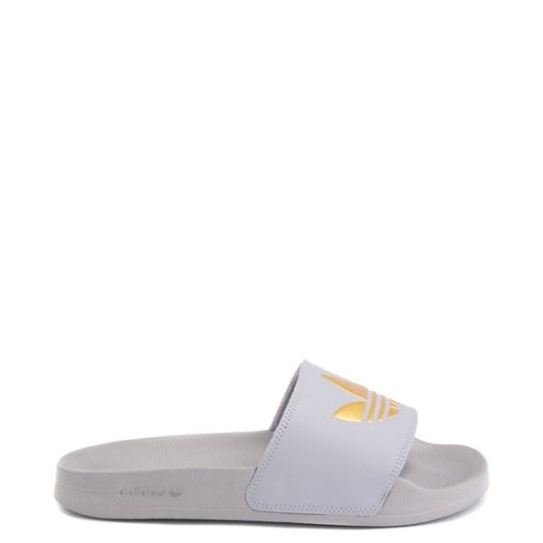 Main view of Womens adidas Adilette Lite Slide Sandal - Glory Grey / Gold