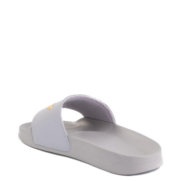 alternate image alternate view Womens adidas Adilette Lite Slide Sandal - Glory Grey / GoldALT2