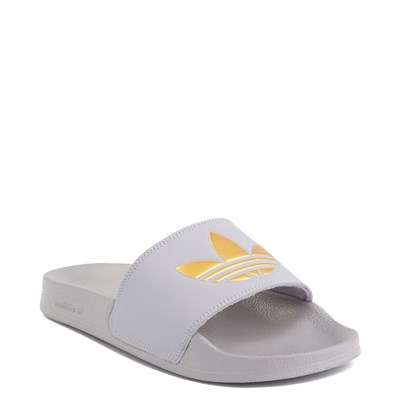 Alternate view of Womens adidas Adilette Lite Slide Sandal - Glory Grey / Gold