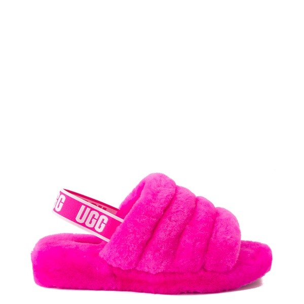 Womens UGG® Fluff Yeah Slide Sandal - Rock Rose