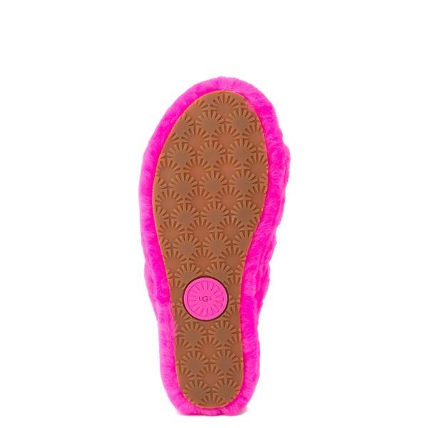 alternate image alternate view Womens UGG® Fluff Yeah Slide Sandal - Rock RoseALT3