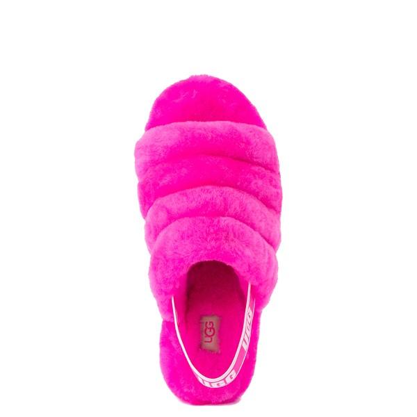 alternate image alternate view Womens UGG® Fluff Yeah Slide Sandal - Rock RoseALT4B