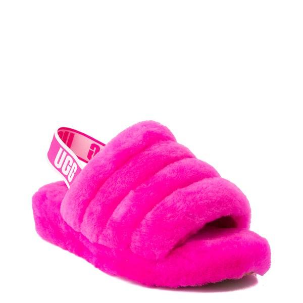 alternate image alternate view Womens UGG® Fluff Yeah Slide Sandal - Rock RoseALT5