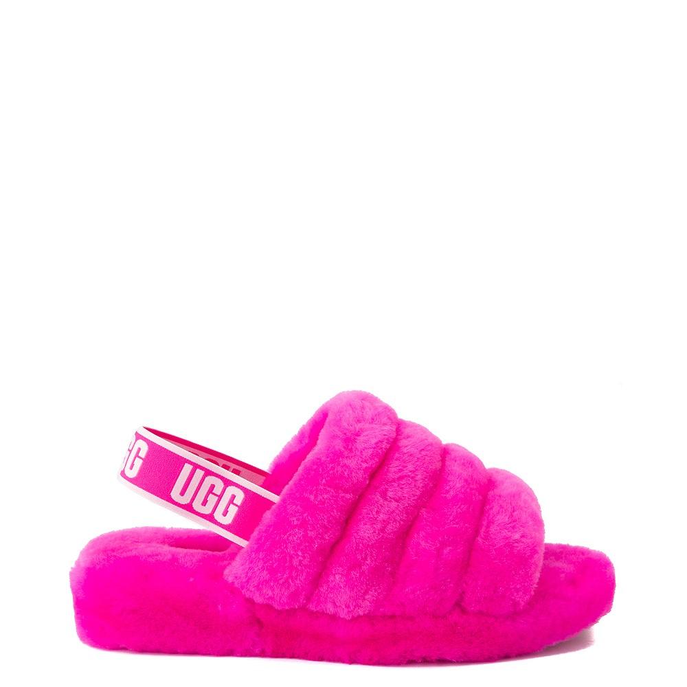 Womens UGG® Fluff Yeah Slide Sandal - Rock Rose