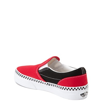 Alternate view of Vans Slip On Checkerboard Skate Shoe - Little Kid - Red / Black
