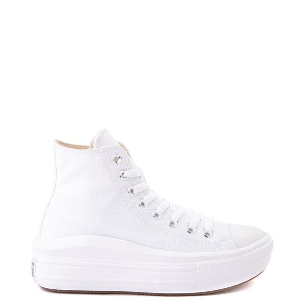 Main view of Womens Converse Chuck Taylor All Star Hi Move Platform Sneaker - White Monochrome