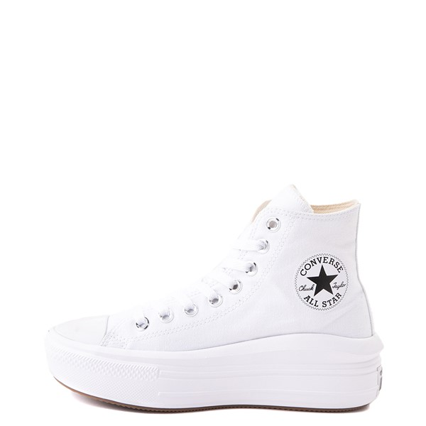 alternate image alternate view Womens Converse Chuck Taylor All Star Hi Move Platform Sneaker - White MonochromeALT1