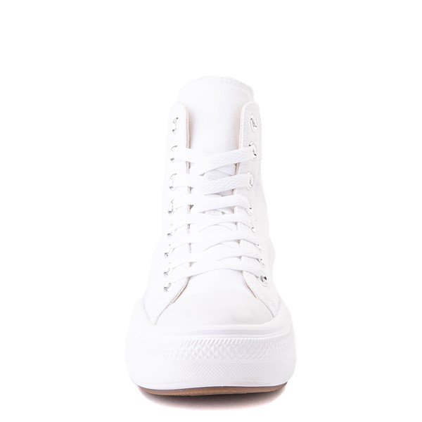 alternate image alternate view Womens Converse Chuck Taylor All Star Hi Move Platform Sneaker - White MonochromeALT4