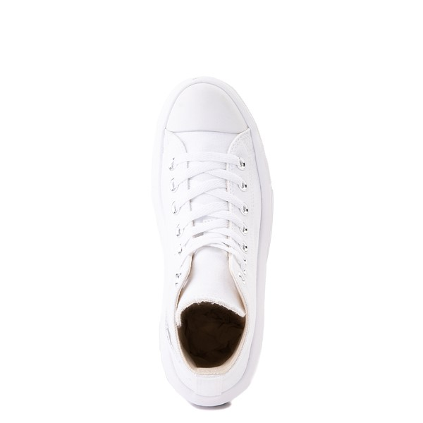 alternate image alternate view Womens Converse Chuck Taylor All Star Hi Move Platform Sneaker - White MonochromeALT4B