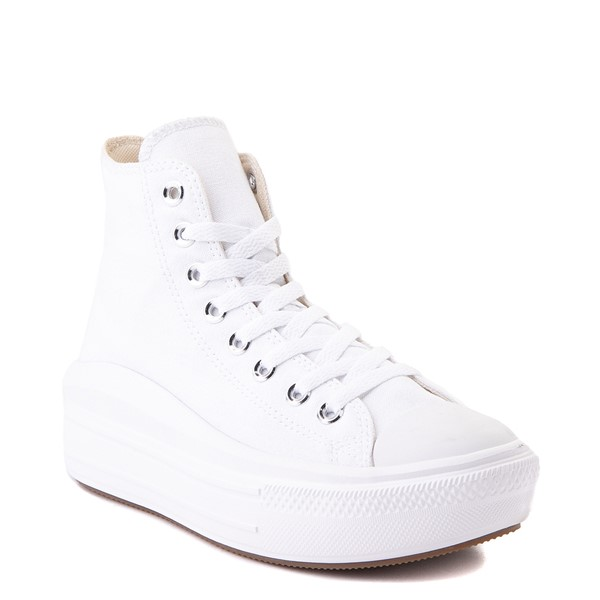 alternate image alternate view Womens Converse Chuck Taylor All Star Hi Move Platform Sneaker - White MonochromeALT5