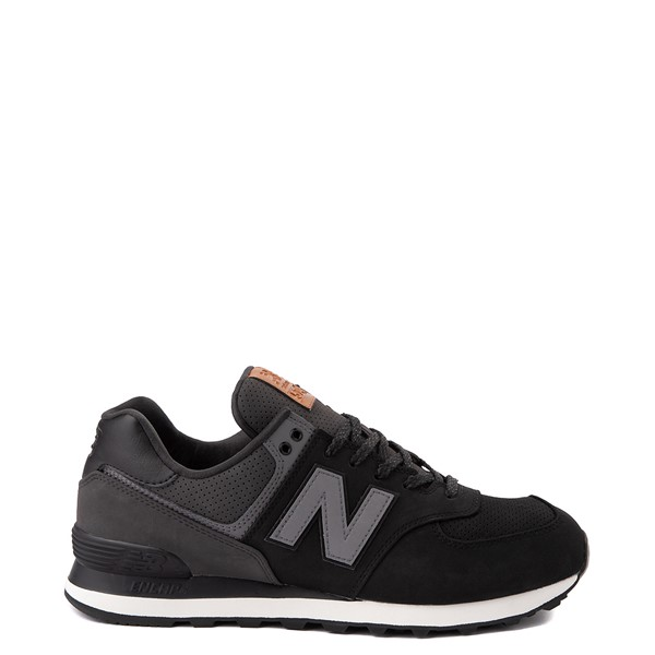 Mens New Balance 574 Athletic Shoe - Black / Grey