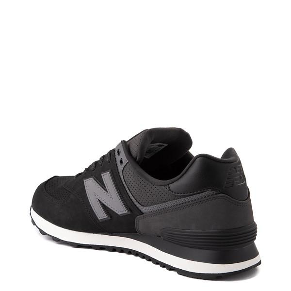 alternate image alternate view Mens New Balance 574 Athletic Shoe - Black / GreyALT1
