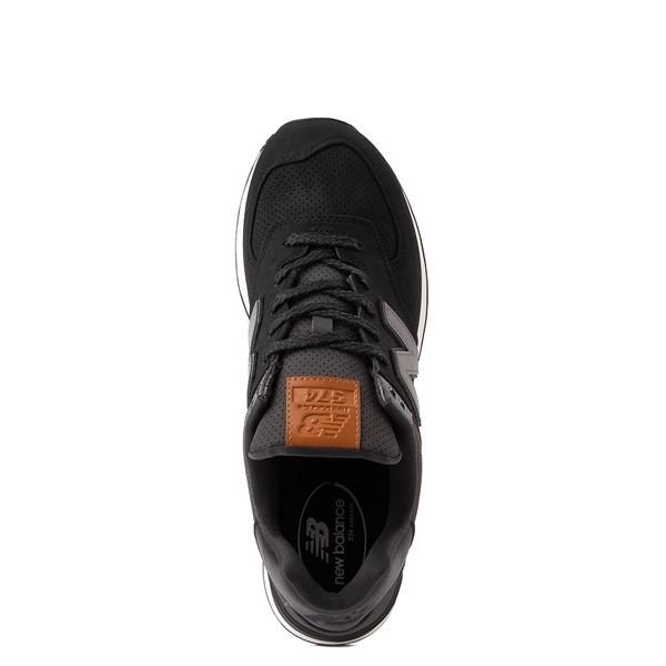 alternate image alternate view Mens New Balance 574 Athletic Shoe - Black / GreyALT2