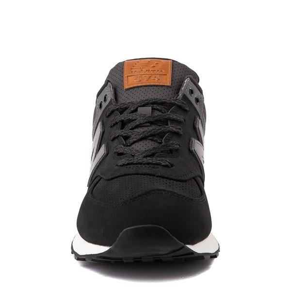 alternate image alternate view Mens New Balance 574 Athletic Shoe - Black / GreyALT4