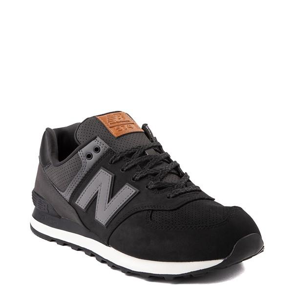 alternate image alternate view Mens New Balance 574 Athletic Shoe - Black / GreyALT5