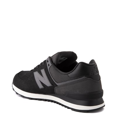 Alternate view of Mens New Balance 574 Athletic Shoe - Black / Grey