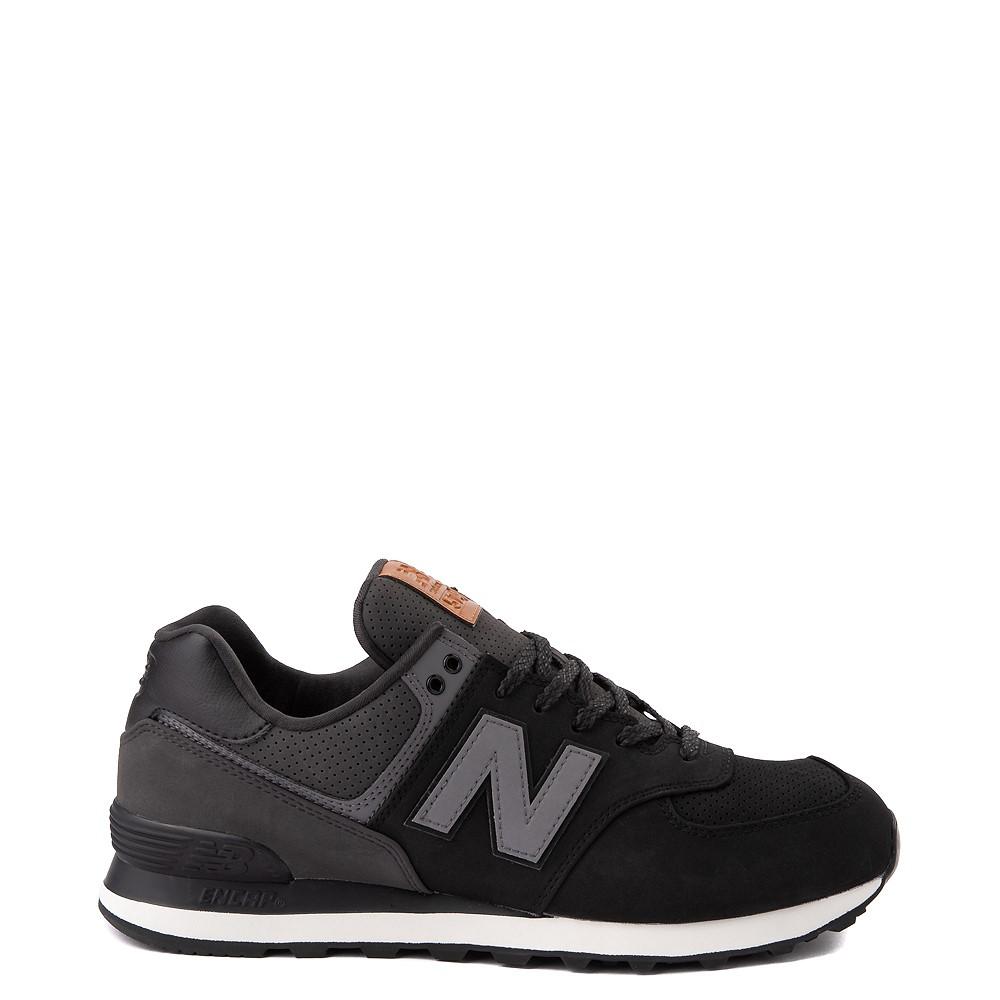Mens New Balance 574 Athletic Shoe - Black / Grey
