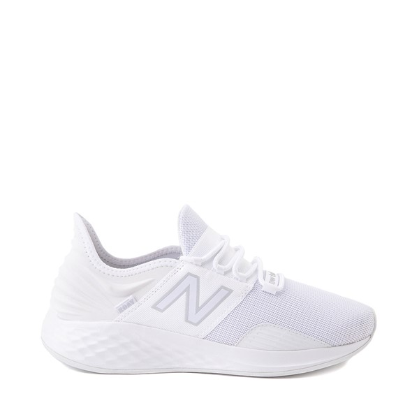 Main view of Mens New Balance Fresh Foam Roav Athletic Shoe - White / Grey