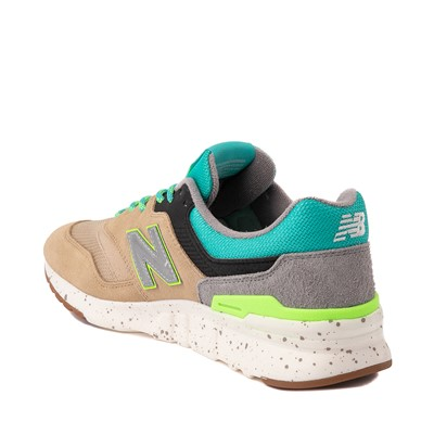 Alternate view of Mens New Balance 997H Athletic Shoe - Tan / Blue / lime