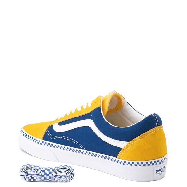 alternate image alternate view Vans Old Skool Checkerboard Skate Shoe - Spectra Yellow / True BlueALT1