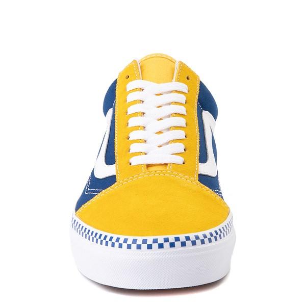 alternate image alternate view Vans Old Skool Checkerboard Skate Shoe - Spectra Yellow / True BlueALT4