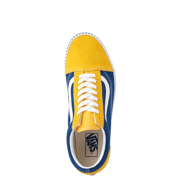 alternate image alternate view Vans Old Skool Checkerboard Skate Shoe - Spectra Yellow / True BlueALT4B