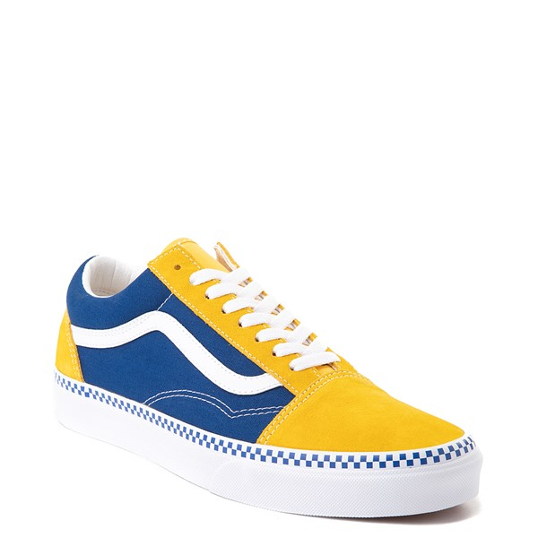 alternate image alternate view Vans Old Skool Checkerboard Skate Shoe - Spectra Yellow / True BlueALT5