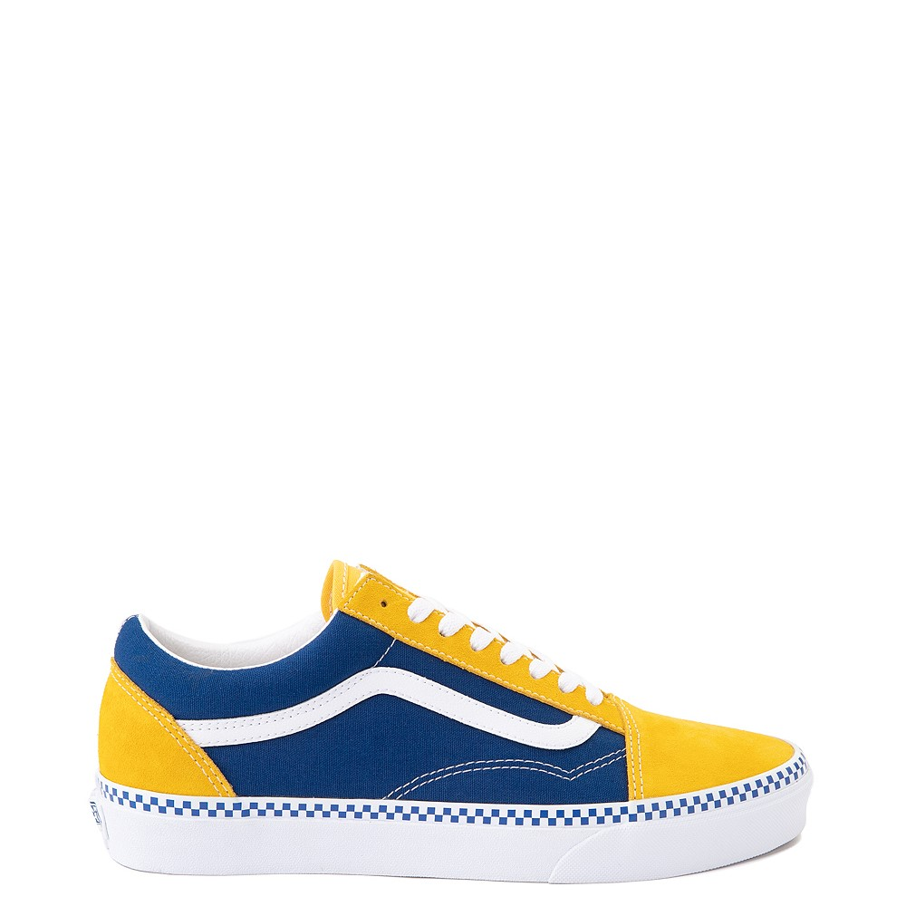 Vans Old Skool Checkerboard Skate Shoe - Spectra Yellow / True Blue