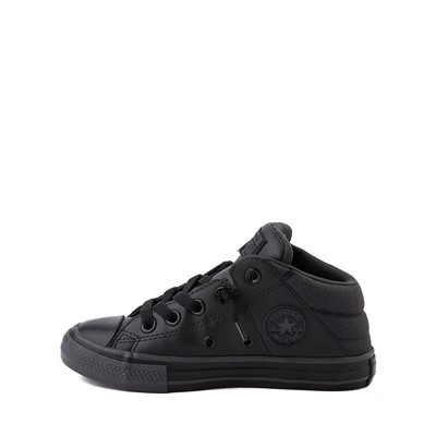 Alternate view of Converse Chuck Taylor All Star Axel Mid Sneaker - Little Kid / Big Kid - Black Monochrome