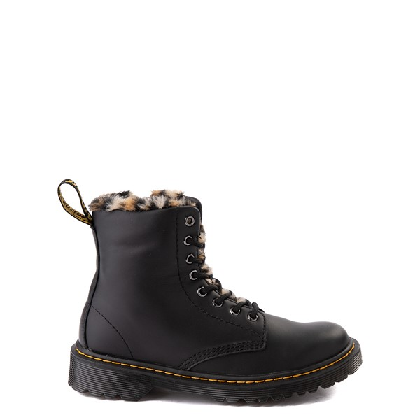 Main view of Dr. Martens 1460 8-Eye Serena Boot - Big Kid - Black / Leopard