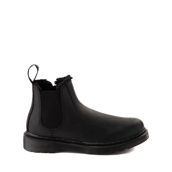 Main view of Dr. Martens 2976 Faux Fur-Lined Chelsea Boot - Little Kid / Big Kid - Black