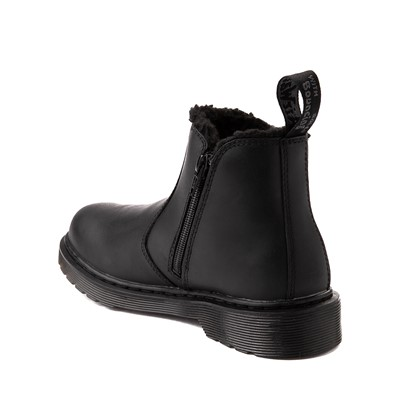 Alternate view of Dr. Martens 2976 Faux Fur-Lined Chelsea Boot - Big Kid - Black