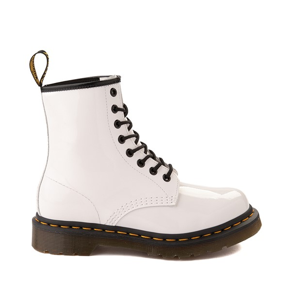 Main view of Womens Dr. Martens 1460 8-Eye Patent Boot - White